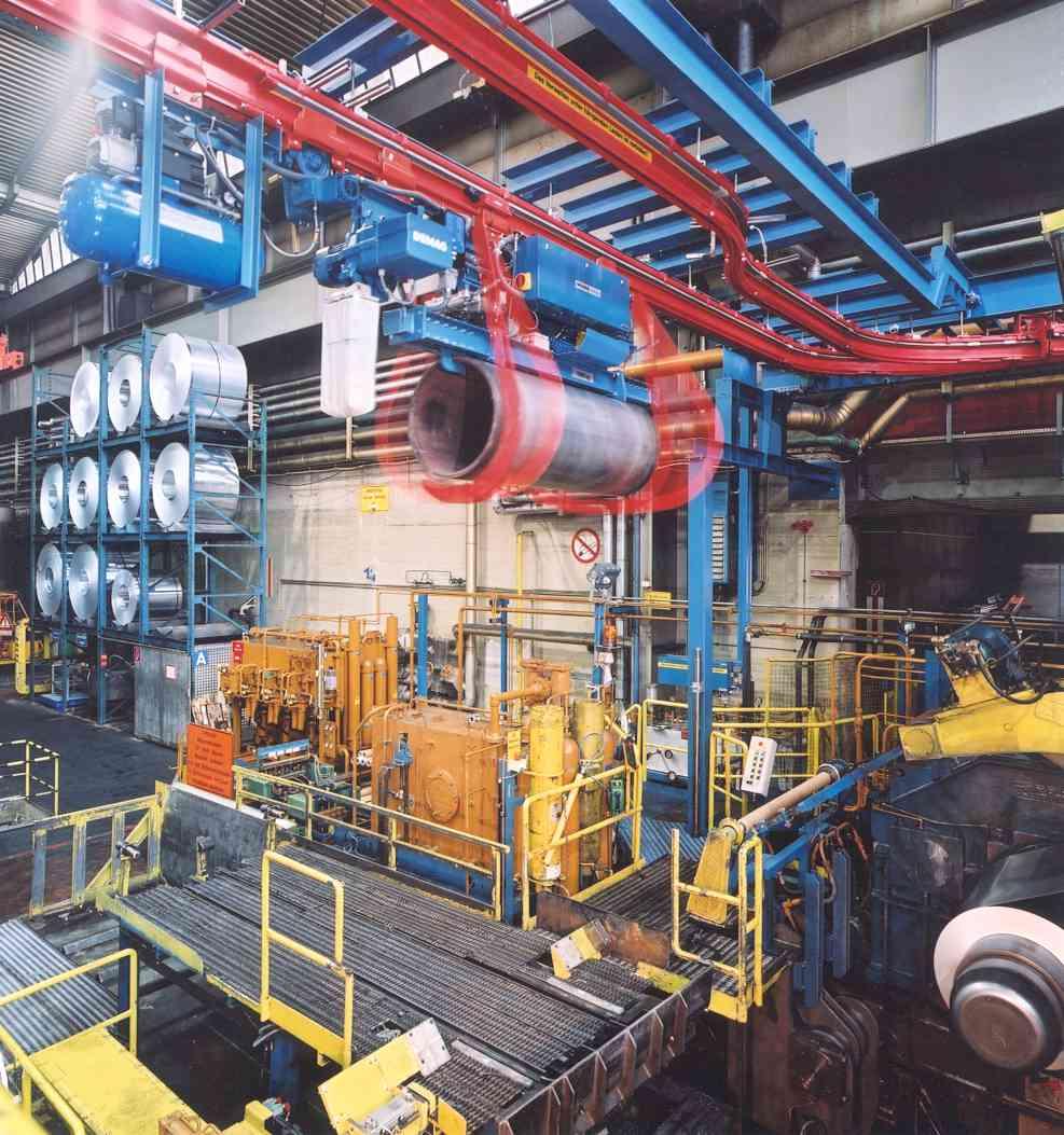 GRABNER Automation : Einschienenbahn für Walzgerüst